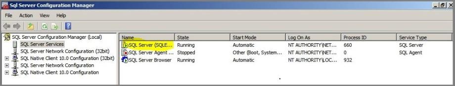 SQL sever config Manager 4